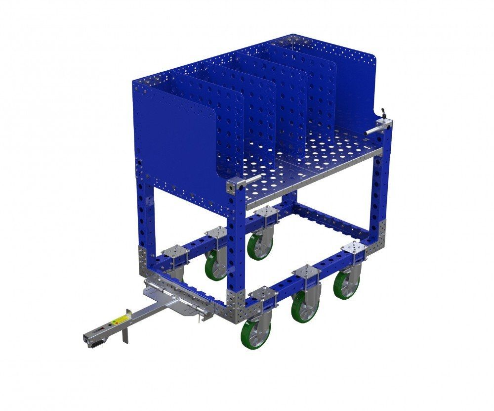 Modular kit cart with attached tow bar