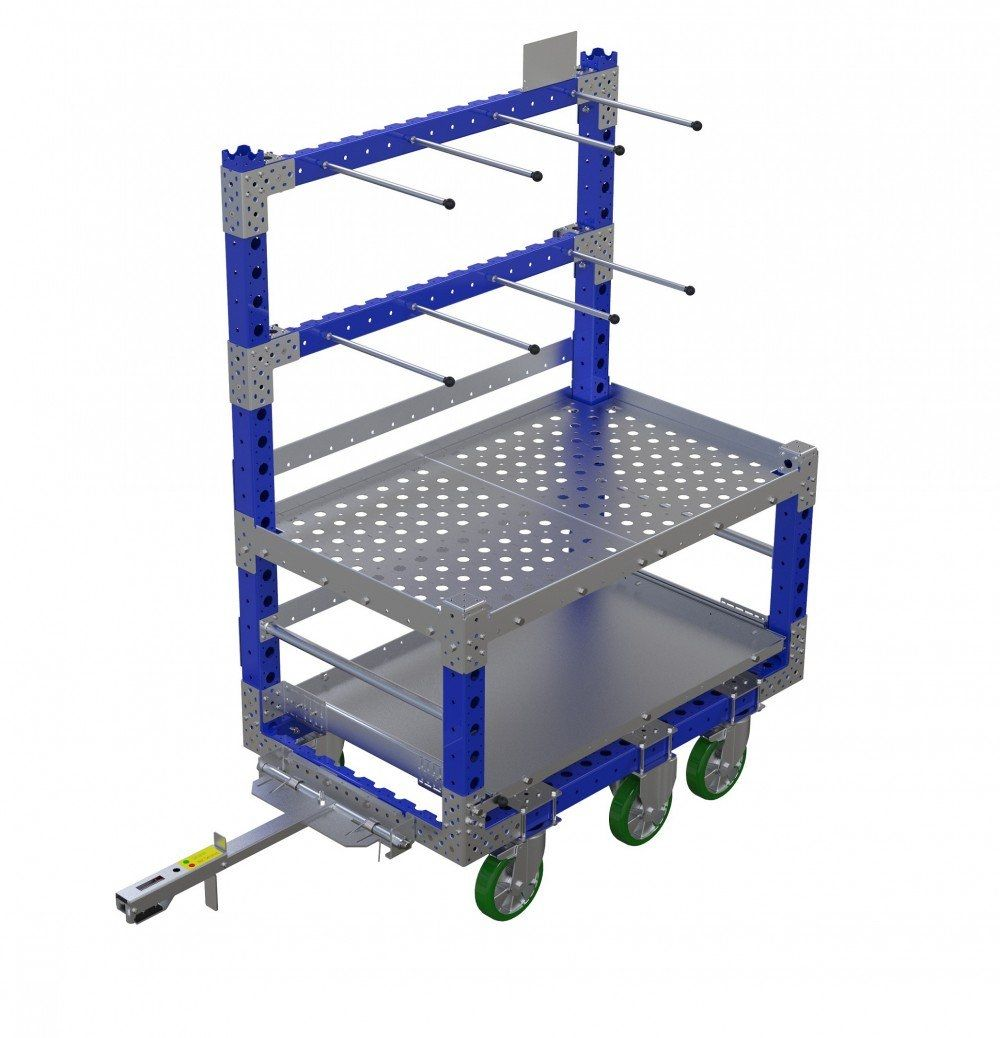 Industrial combination kit cart with tow bar
