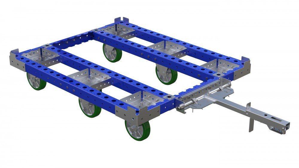 FlexQube tugger cart without steel flat deck