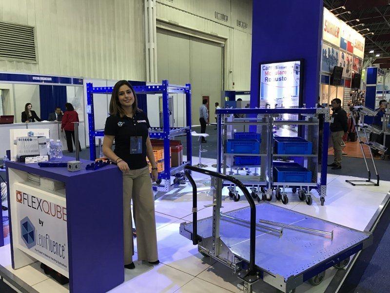 FlexQube at a trade show in Mexico
