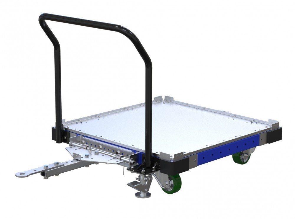 FlexQube flat deck tugger cart