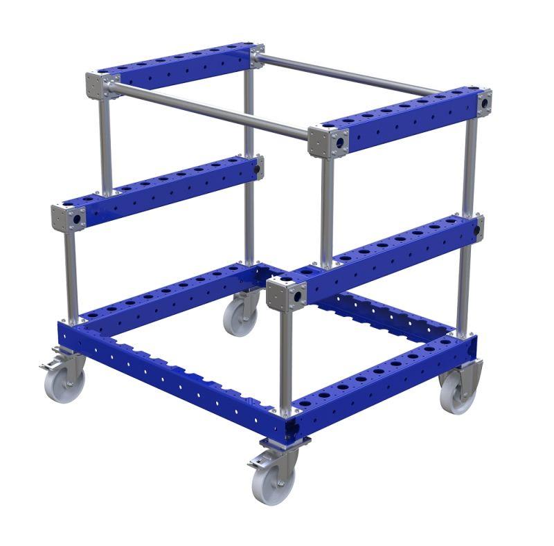 FlexQube material handling kit cart for batteries