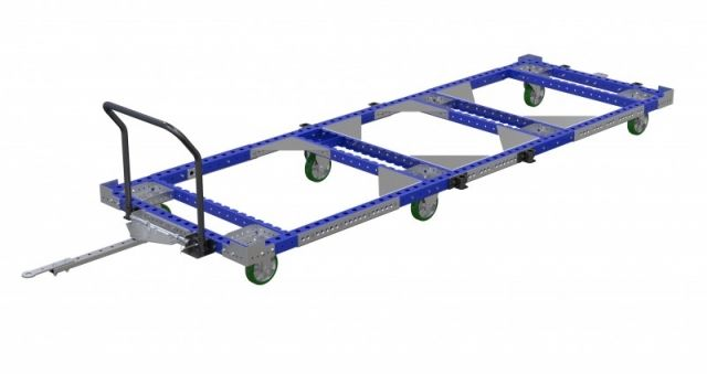 Large long pallet cart with handle bar