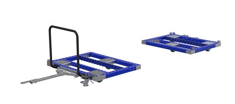 FlexQUbe pallet cart split in two