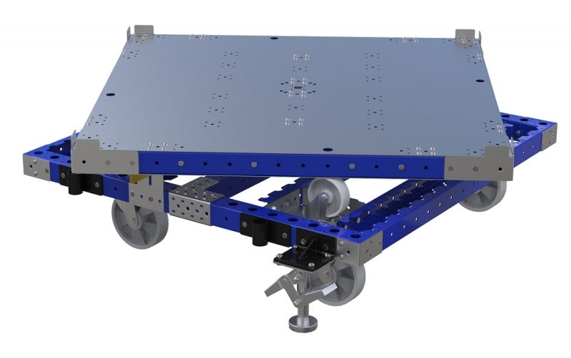FlexQube rotating cart with floor lock brake