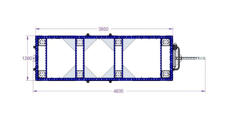 FlexQUbe pallet cart design drawings