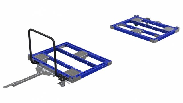Order for two-pieced transport cart for large racks from customer in Canada