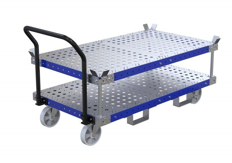 FlexQube stackable cart with forklift pockets