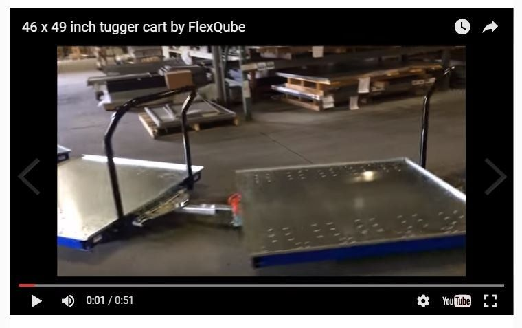 The FlexQube concept generates an order for 100 carts from customer in South Carolina