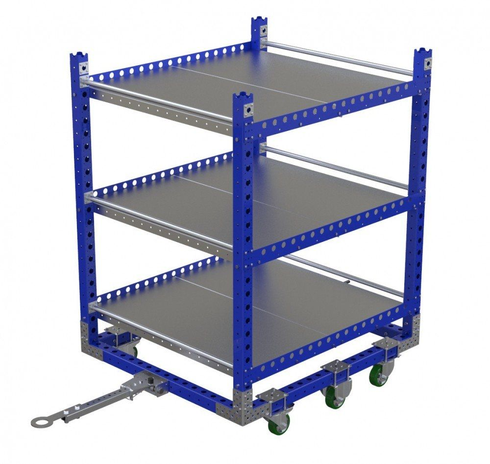 FlexQube shelf cart witht ow bar