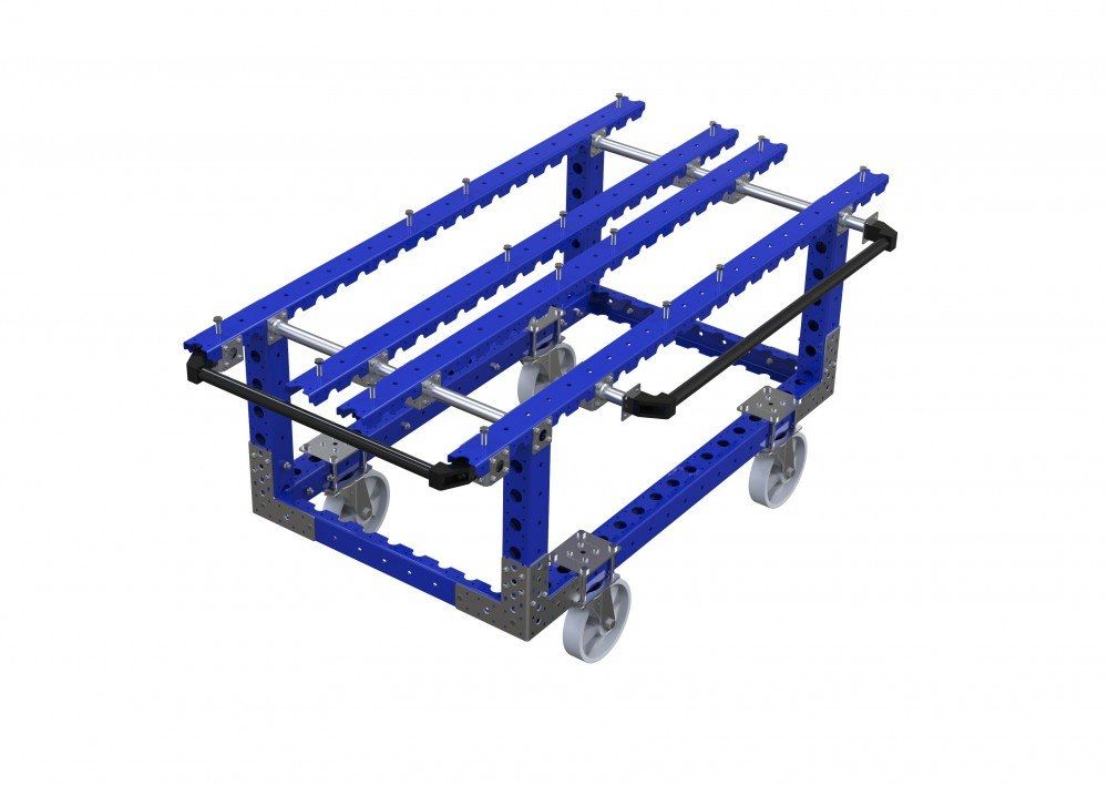 FlexQube industrial kit cart with handles
