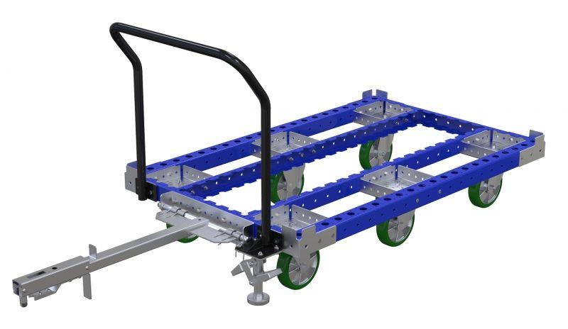 FlexQube tugger cart without flat deck