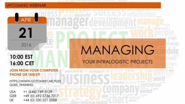Managing your intralogistics projects webinar