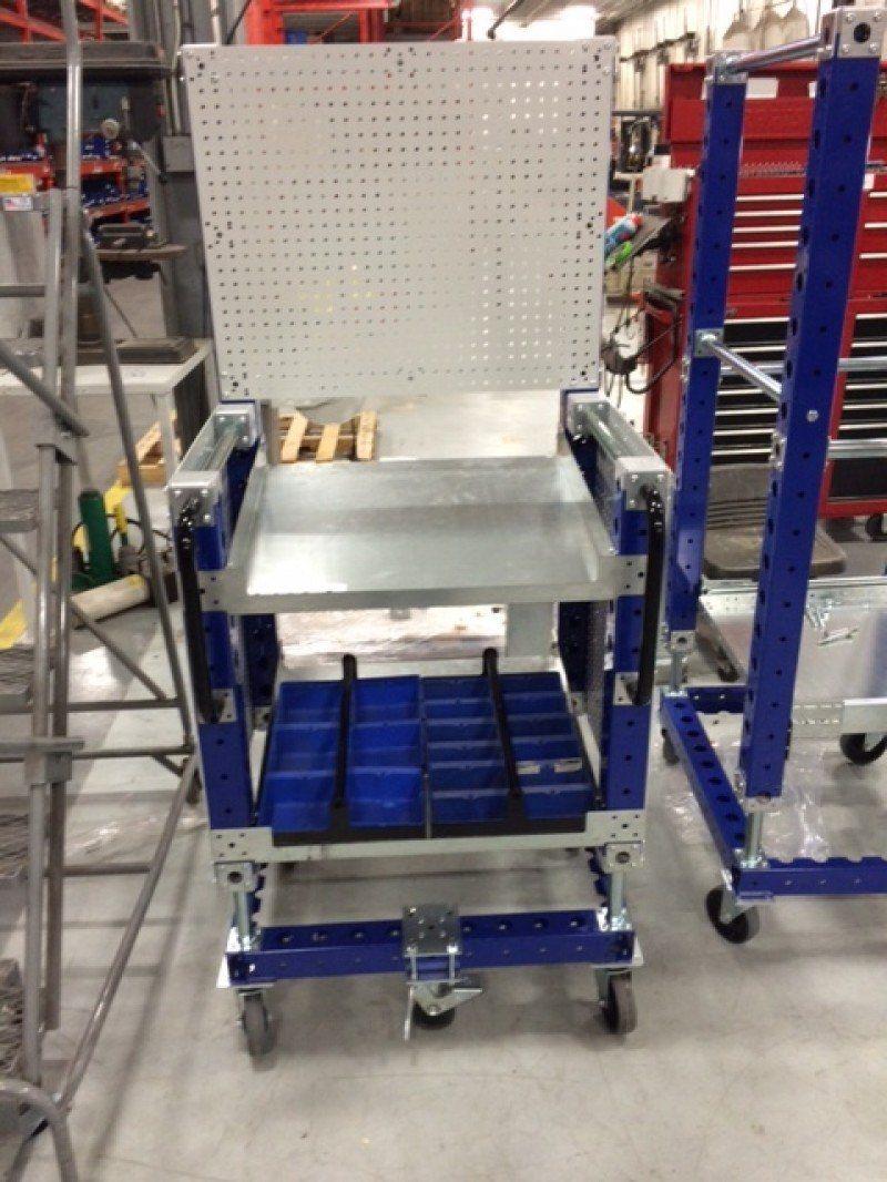 FlexQube assembly line cart
