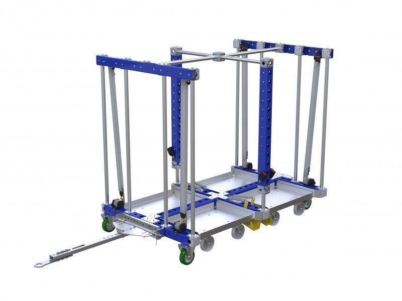 Custom designed mother-daughter cart