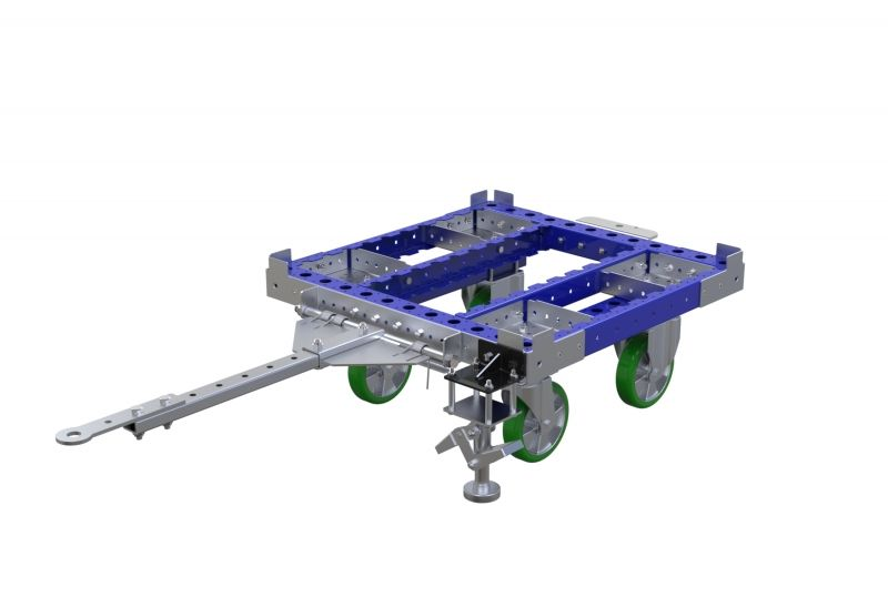 Small FlexQube container cart with tow bar