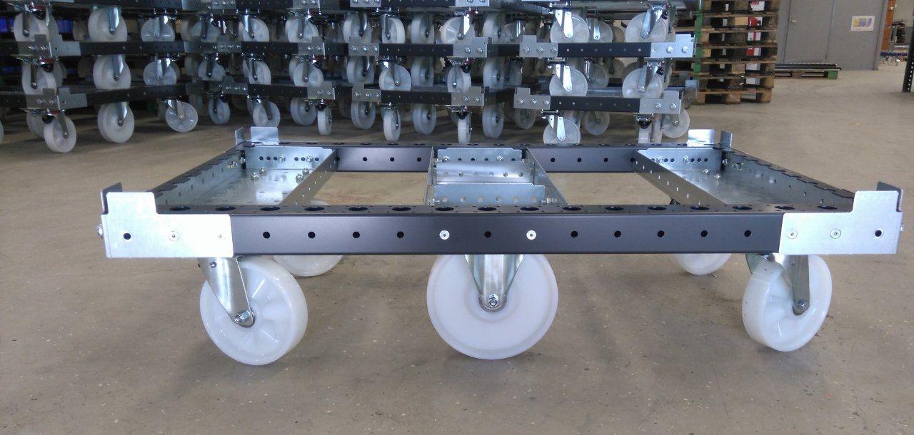 FlexQube pallet cart in black