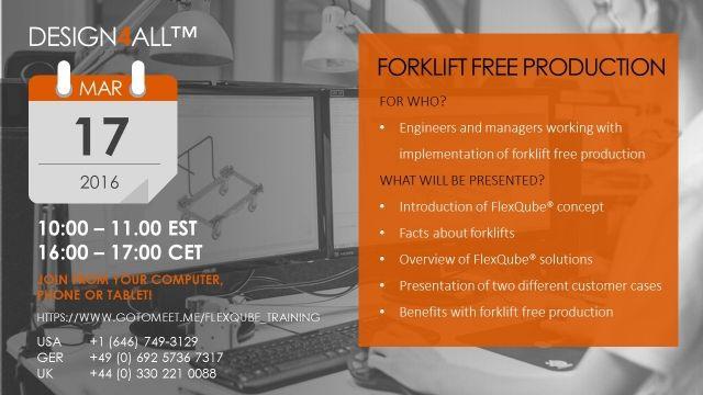 Forklift free production webinar image