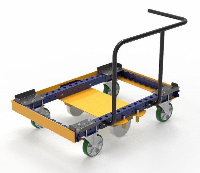 FlexQube pallet carts in a Liftrunner frame