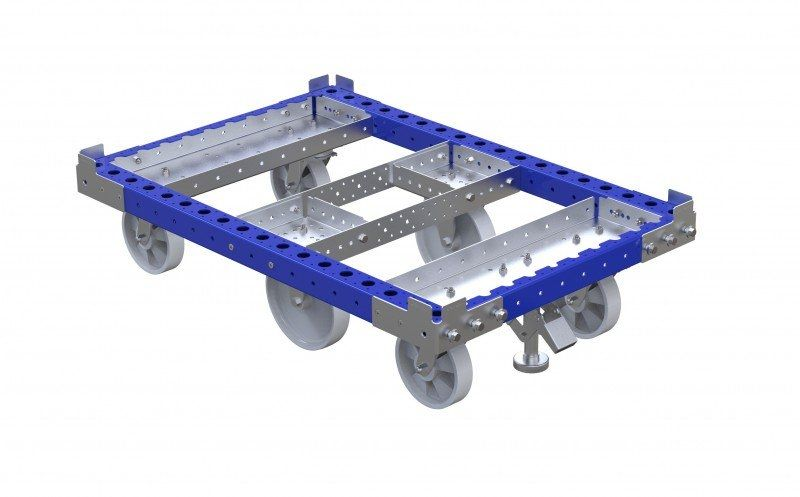 Pallet cart without tow bar