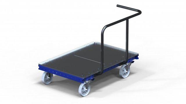 FlexQube modular flat deck tugger cart for Liftrunner frames