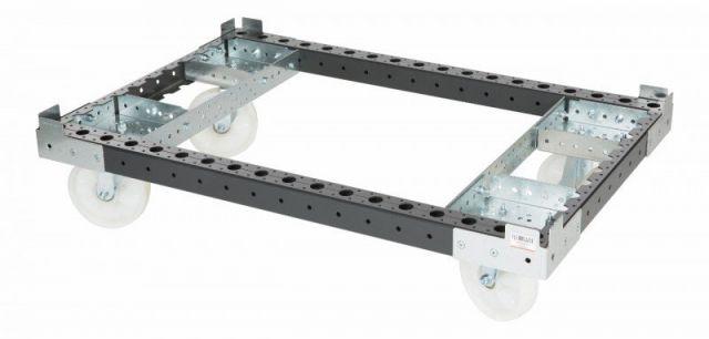 FlexQube modular pallet cart in black