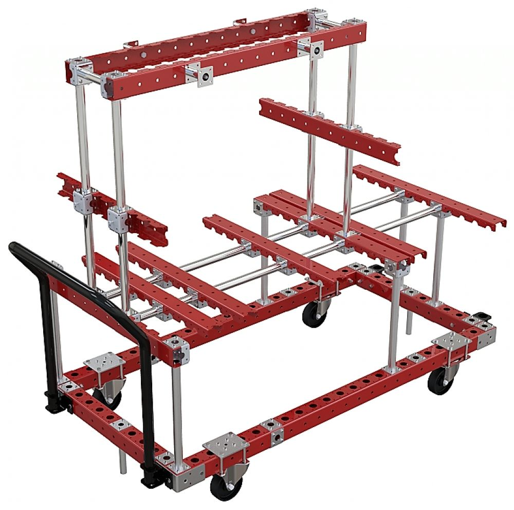 Custom designed FlexQube rack in red