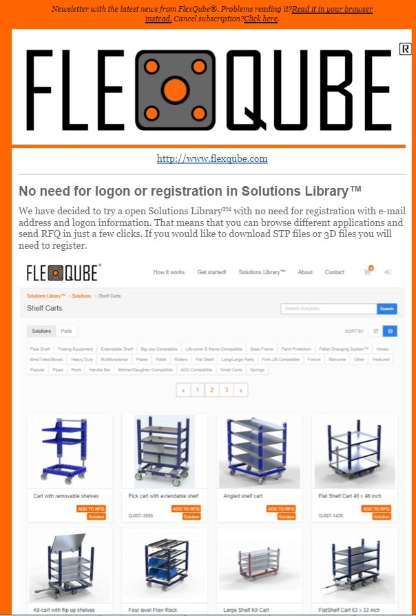 FlexQube newsletter