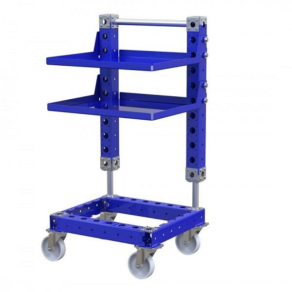 FlexQube removable shelves cart