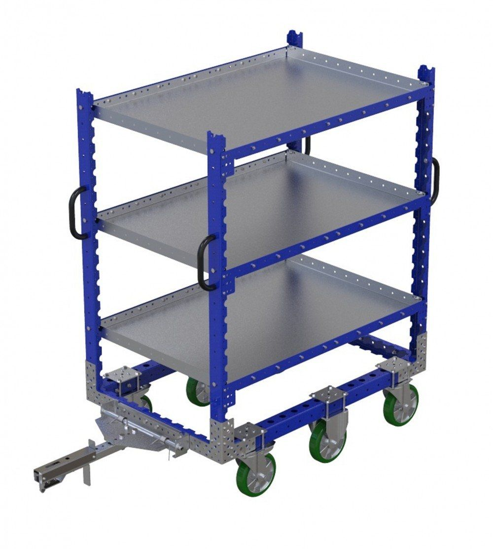 FlexQube Shelf cart with attached tow bar