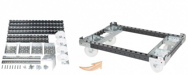 FlexQube building blocks into a tugger cart