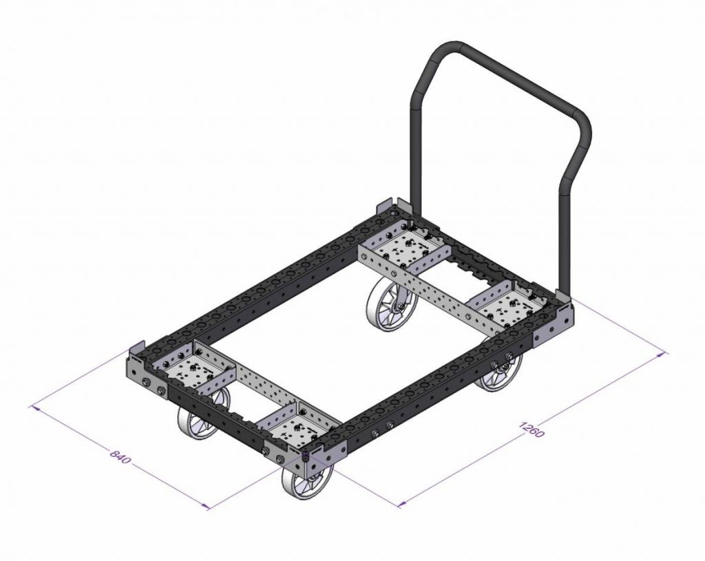 FlexQube® receives an order for carts with removable handle bar!