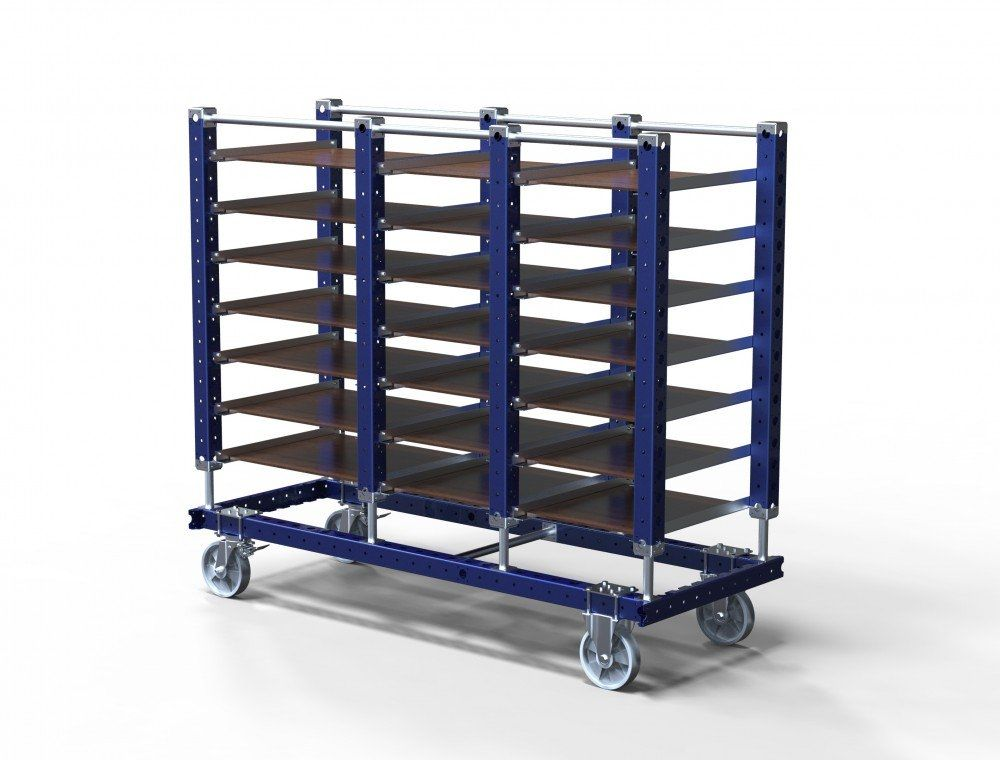 Custom design flat shelf cart