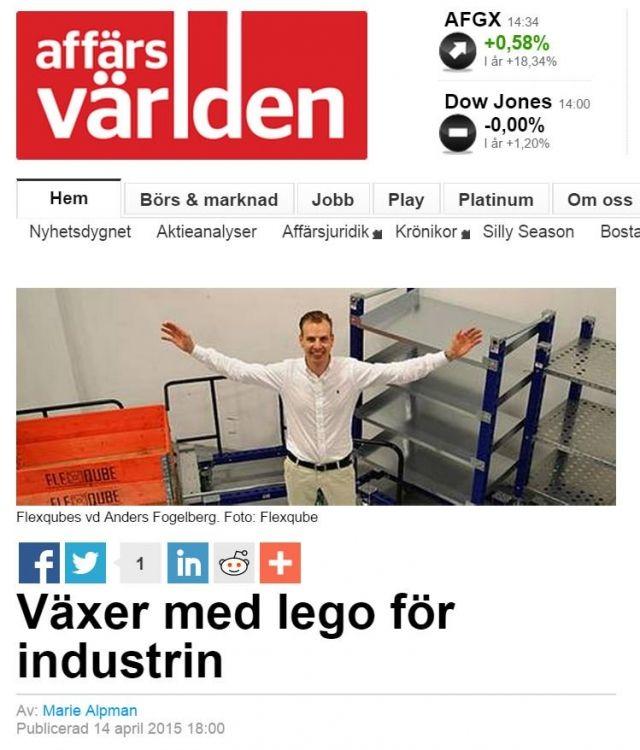 FlexQube CEO Anders Fogelberg in Affärs Världen