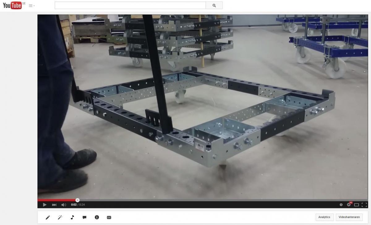 FlexQube pallet Cart video thumbnail
