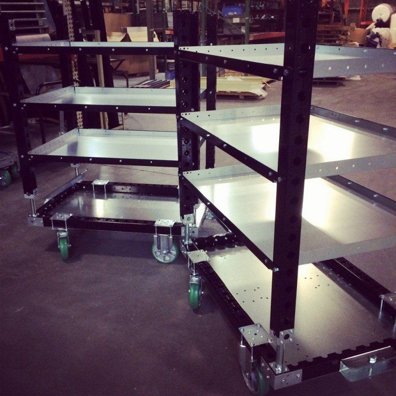 FlexQube Material Handling shelf carts