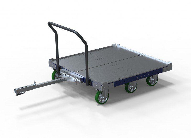 FlexQube tugger cart with flat deck