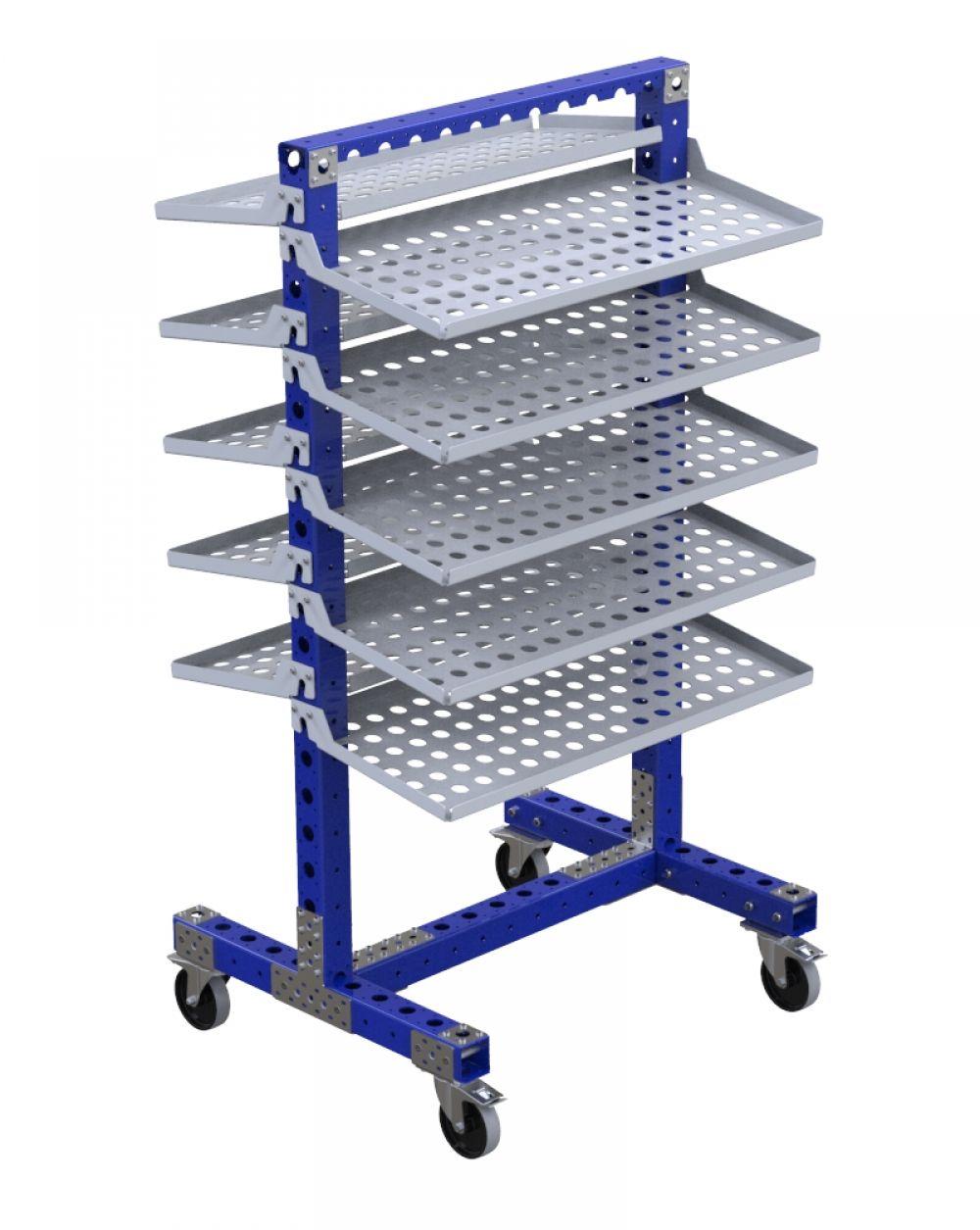 FlexQube removable shelf cart
