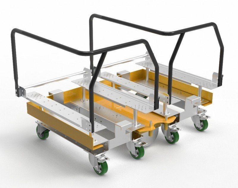 FlexQube Euro pallet sized material handling cart