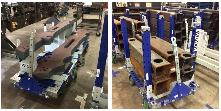 FlexQube material handling carts at AGCO