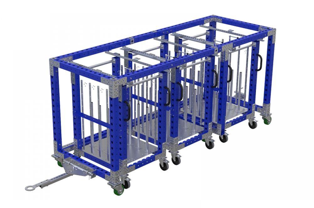 FlexQube mother-daughter cart