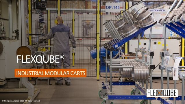 FlexQube industrial modular carts