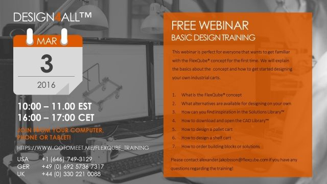 FlexQube Design4All Webinar meeting
