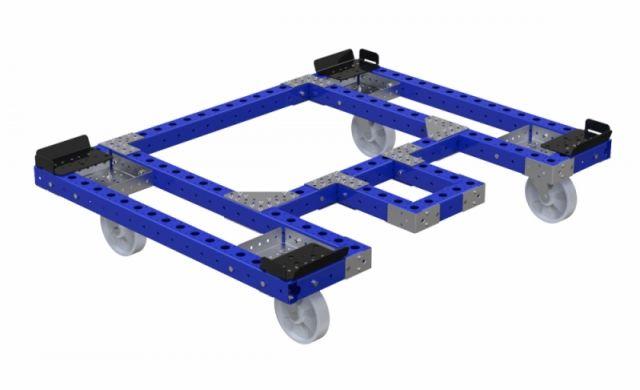 Carrito para pallet FlexQube para el manejo de materiales con área de recolección
