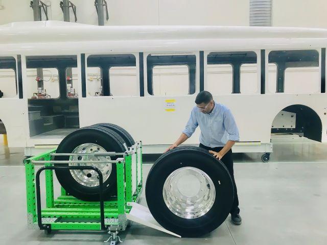 Carrito kit FlexQube para neumáticos Proterra
