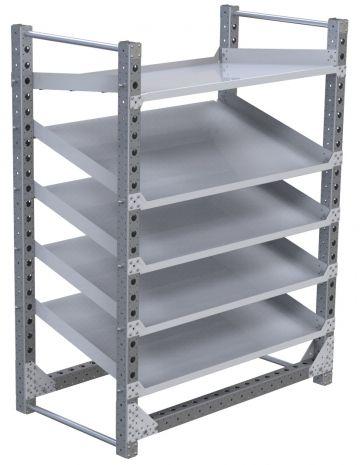 Modular & industrial material handling flow rack by FlexQube