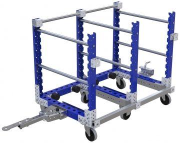 Modular & industrial material handling mother-daughter cart by FlexQube