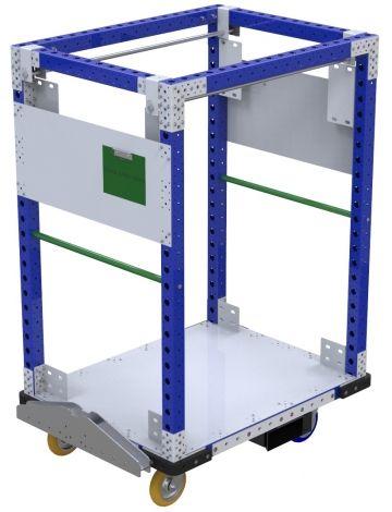 Modular & industrial material handling hanging cart by FlexQube
