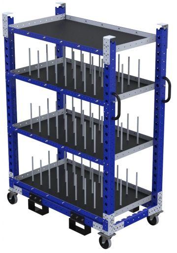 Daughter Shelf Cart w. Dividers – 700 x 1330 mm