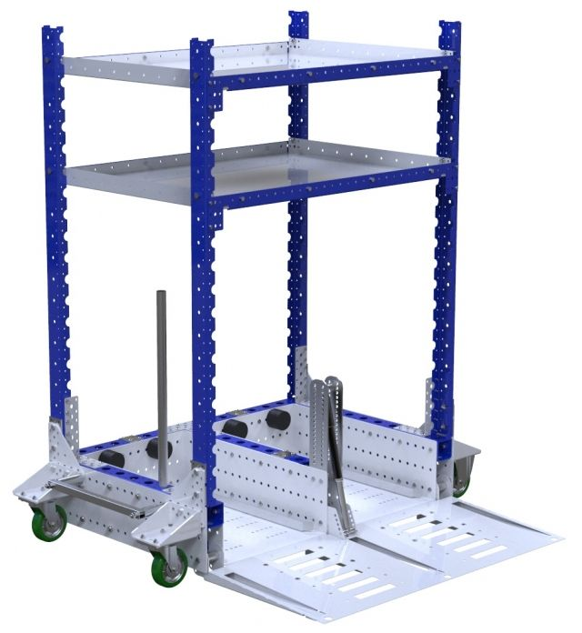 Modular & industrial material handling mother-daughter cart by FlexQube